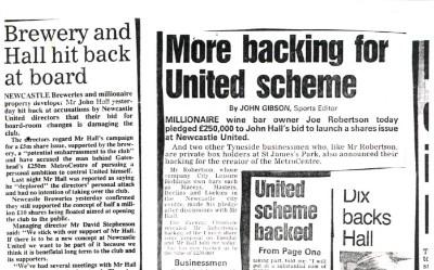 Backing Newcastle United Scheme
