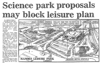 Science Park Proposals May Block Leisure Plan