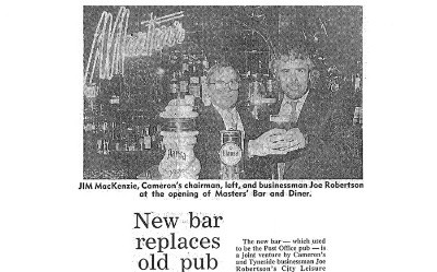 New Bar Replaces Old Pub