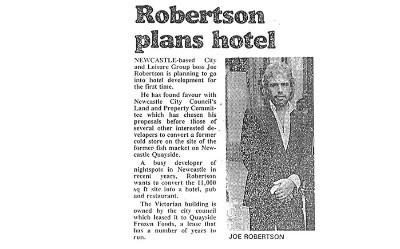 Robertson Plans Hotel