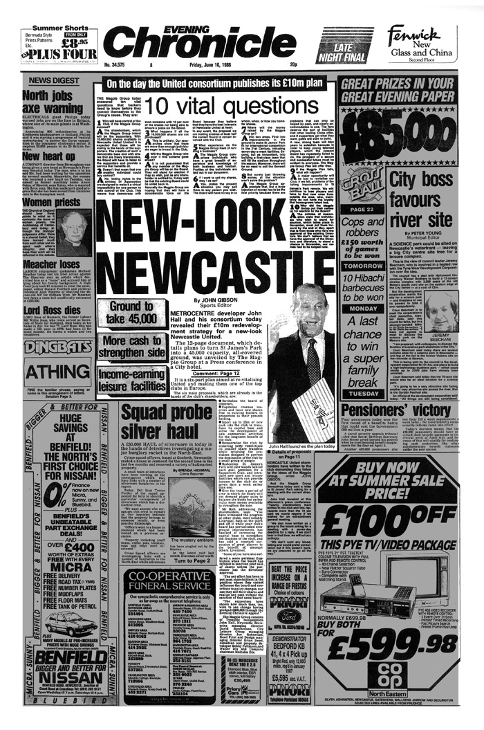 joe robertson Newcastle United Consortium