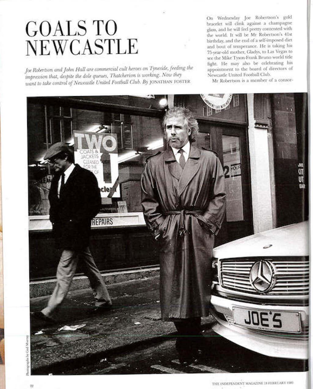 Joe Robertson Goals to Newcastle News Article 1