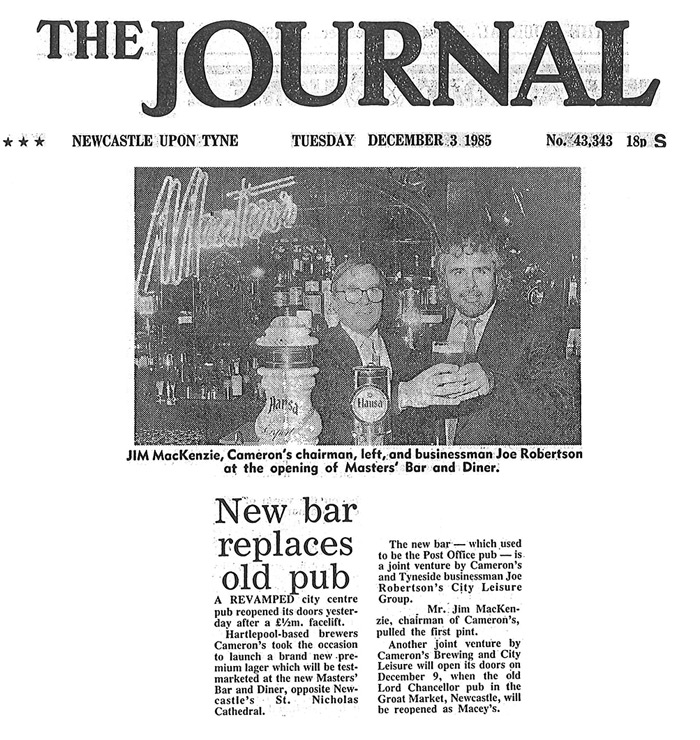joe robertson has new bar