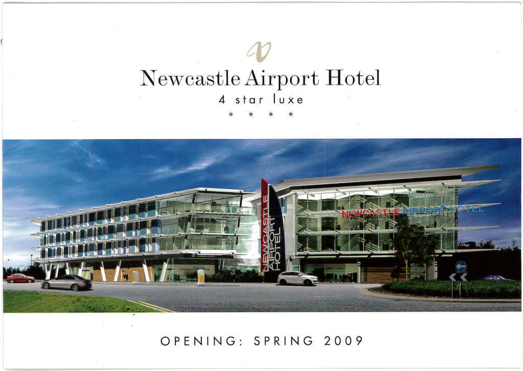 newcastle airport hotel brochure page 1