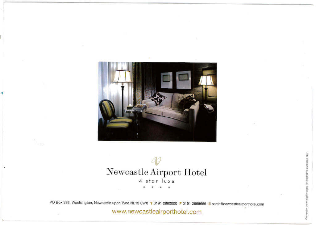 newcastle airport hotel brochure page 3