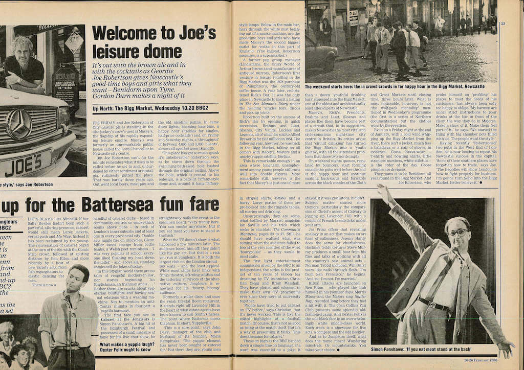Joe Robertson Up North Radio Times News Article 2