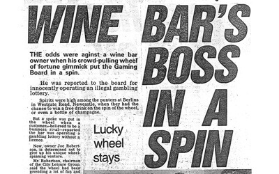 Wine Bar's Boss in a Spin