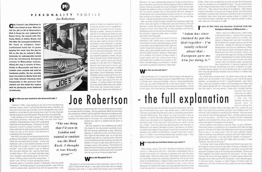 Personality Profile – Joe Robertson