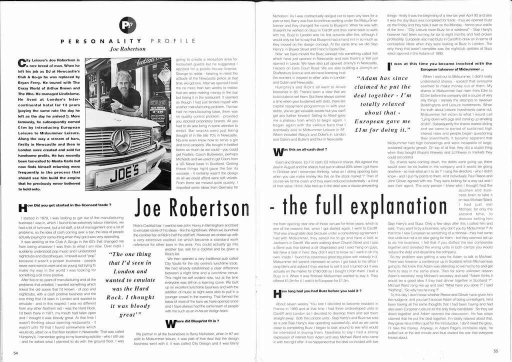 Joe Robertson Personality Profile News Article 1