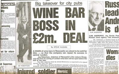 Wine Bar Boss in £2million Sell-Out
